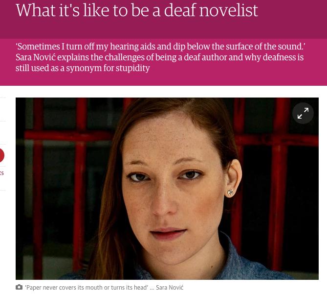 Deaf Novelist